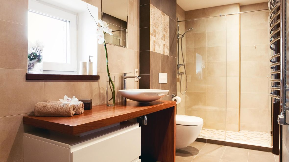 A modern bathroom that our team fitted