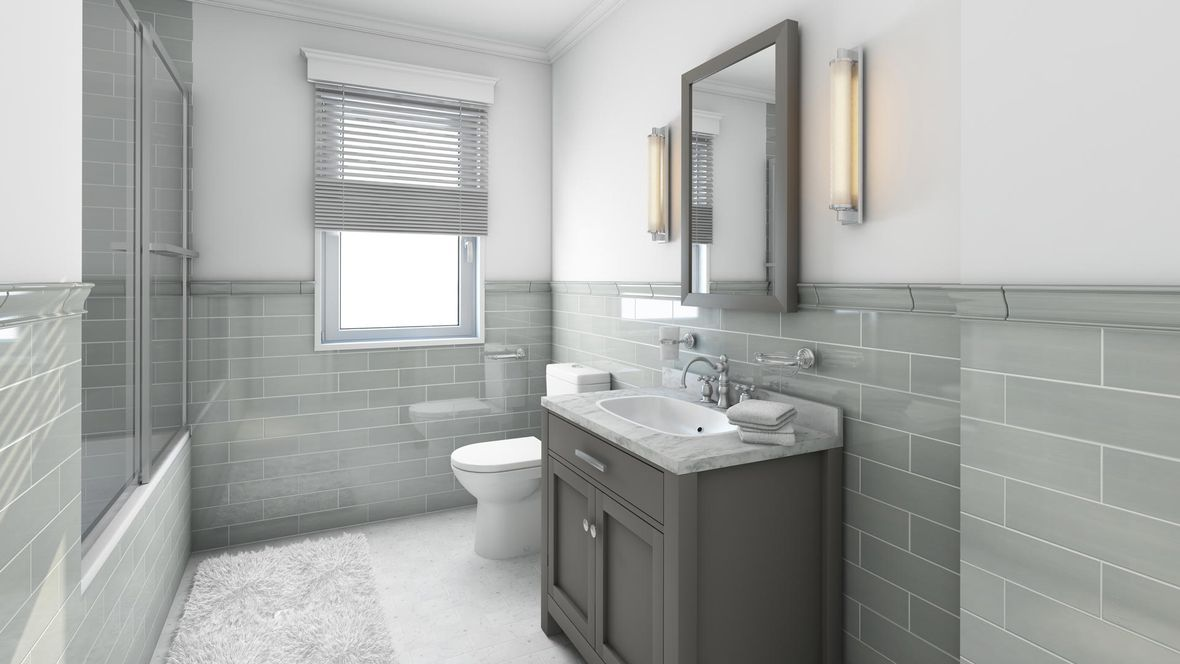 A bathroom our team fitted in a residential home